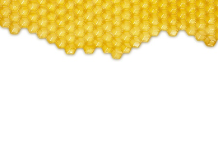 Honeycomb isolated on white background
