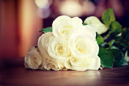 Bouquet with white roses  photo