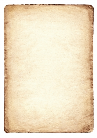 paper background: Old paper isolated on white background  Stock Photo