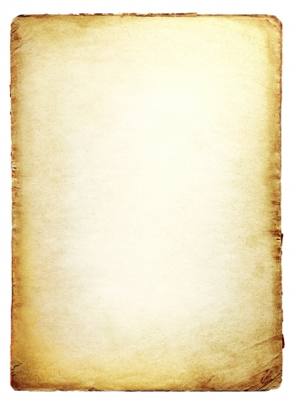 rough paper: Old paper isolated on white background  Stock Photo