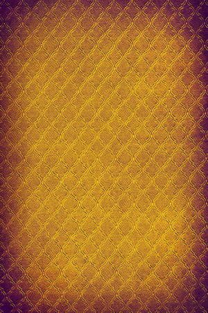 Damask wallpaper in orange and purple colors  Stock Photo