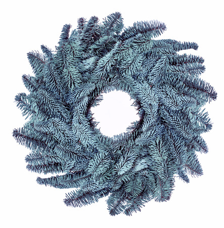 Christmas wreath isolated on white background  Stock Photo