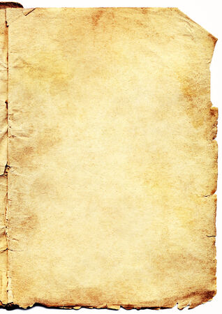 Old paper isolated on white background  Standard-Bild