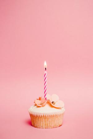 velitas de cumpleaños: Pink Cupcake cumpleaños