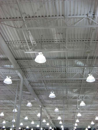 stockroom: Wan light of a huge store.