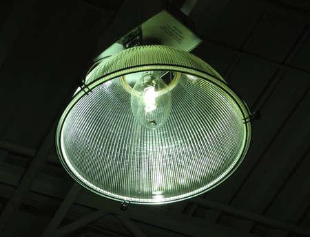 artificial light: Artificial Light Of A Indoor Lamp On A Factory.