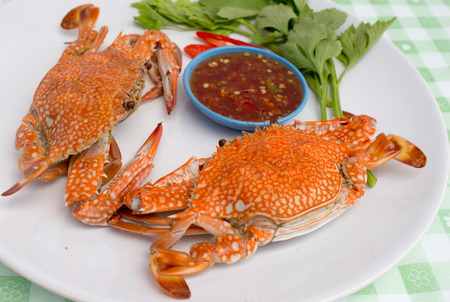 steamed crab kind of Thai food photo