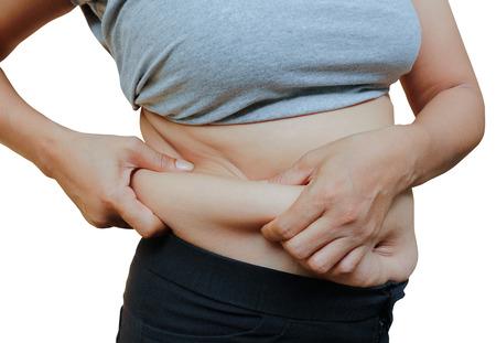 mujeres gordas: Las mujeres con el vientre y las estr�as grasas.