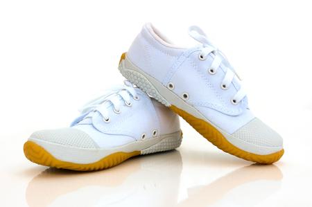 thai boy: Thai boy student shoes on white background.