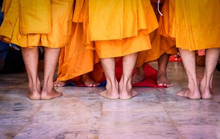 ordination: the holy ordination ceremony that change the Thai young men to be the new monks Stock Photo