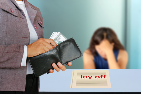 despairing: The concept of people dismissal or lay off an employee.