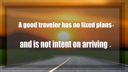 citations: Inspirational quote on blured countryside and  sunset background.
