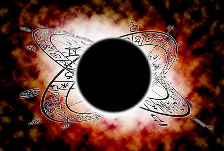 Astrology concept. background of lunar eclipse or Rahu night. 免版税图像 - 50935723