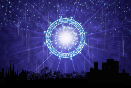 background of the horoscope concept.