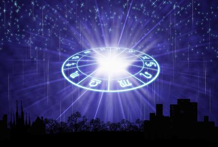 achtergrond van de horoscoop concept. Stockfoto