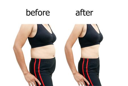 전 다이어트 후 여자의 몸