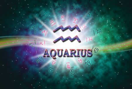 The background of horoscope concept. Stock Photo