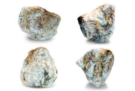 Set of stones on white background