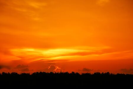 background of sunset  bright colors beautiful sky. Stock Photo