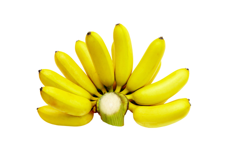 musa: banana isolate on a white background,with clipping path.
