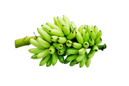 green banana isolate on a white background,with clipping path. 版權商用圖片 - 69446375