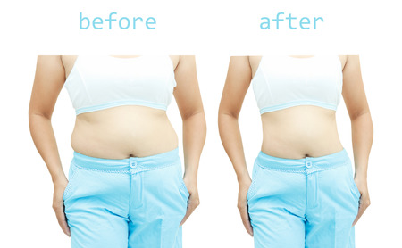 El cuerpo de la mujer antes y después de una dieta