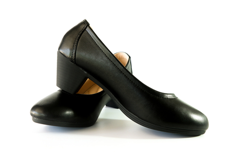 women shoes on white background. Stock Photo