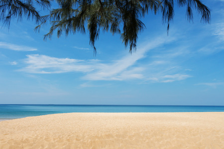 Beautiful sea Mai Khao Beach at Phuket Thailand.
