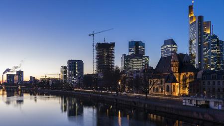 hessen: Frankfurt am Main at night