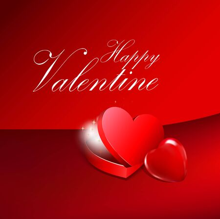 Valentines Day, red heart shaped boxes Stock Photo