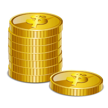 currency glitter: coins Illustration