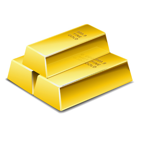 welth: Gold bars Illustration