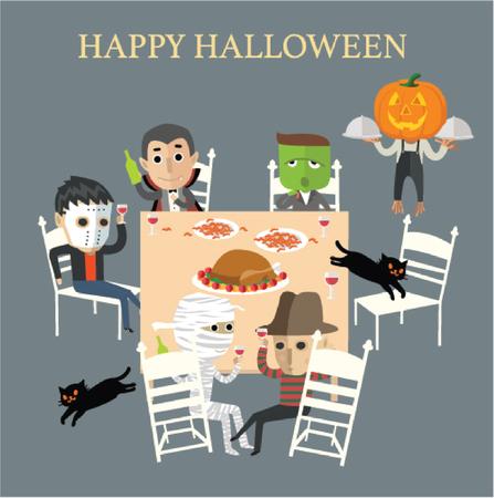 mummy: happy halloween Illustration