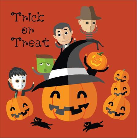 brujas caricatura: feliz halloween Vectores