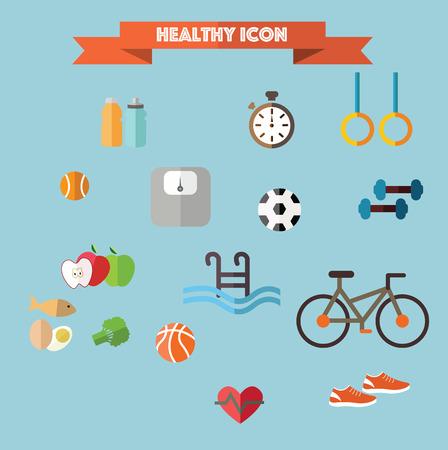 vida natural: icono saludable