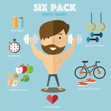 six pack: finess six pack Illustration
