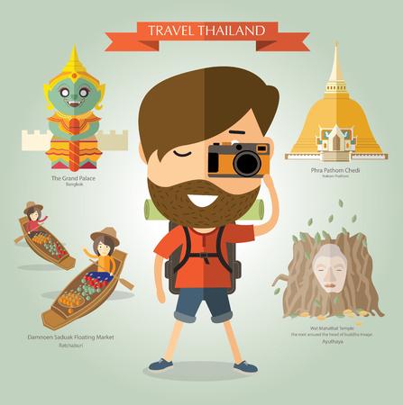 Viaggi turistici in Thailandia Archivio Fotografico - 46069684