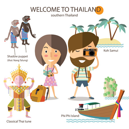 southern: tourist travel to southern Thailand