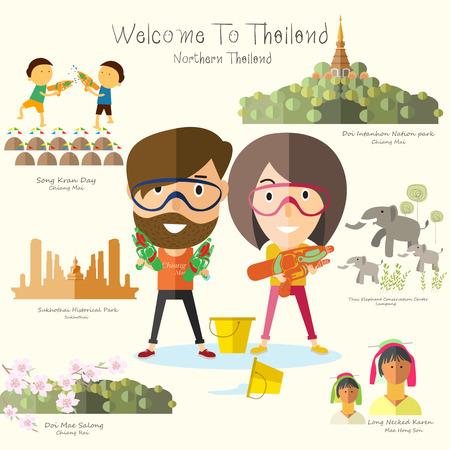 northern: tourist travel to northern Thailand