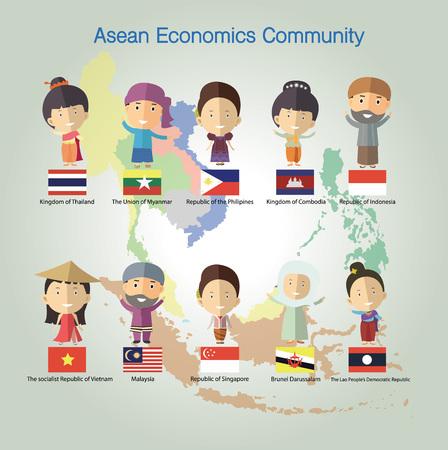 philippines: Asean Economics CommunityAEC eps10 format Illustration