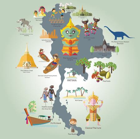 Voyager en Thaïlande très agréable Banque d'images - 47222083