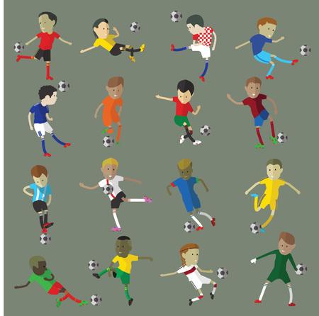 futbol soccer dibujos: personaje del jugador de fútbol