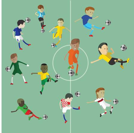 jugadores de futbol: personaje del jugador de fútbol