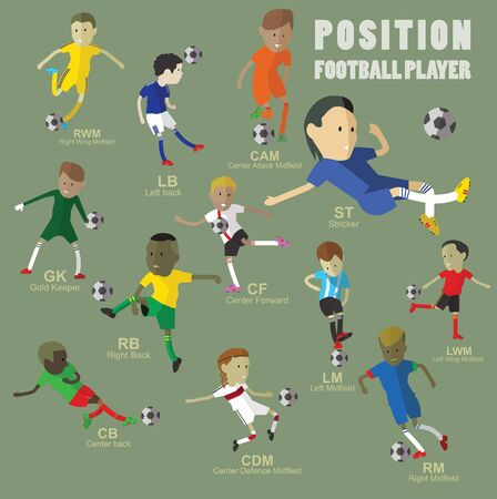 sports field: football player position Illustration
