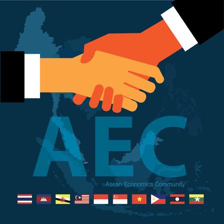 thai flag: Asean Economics CommunityAEC eps 10 format Illustration