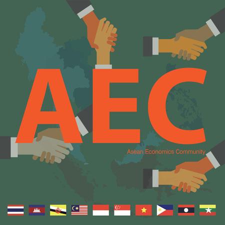 asean: Asean Economics CommunityAEC eps 10 format Illustration