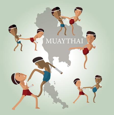 thai  art: MUAYTHAI charactor
