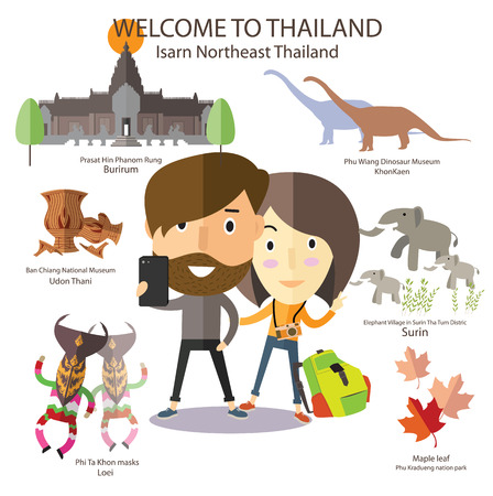 tourist travel to Isarn Northeast Thailand