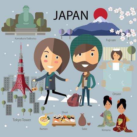 japan travel Illustration