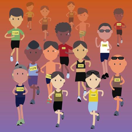 running race: marathon runner